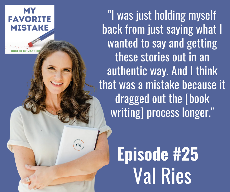"""I was just holding myself back from just saying what I wanted to say and getting these stories out in an authentic way. And I think that was a mistake because it dragged out the [book writing] process longer."""