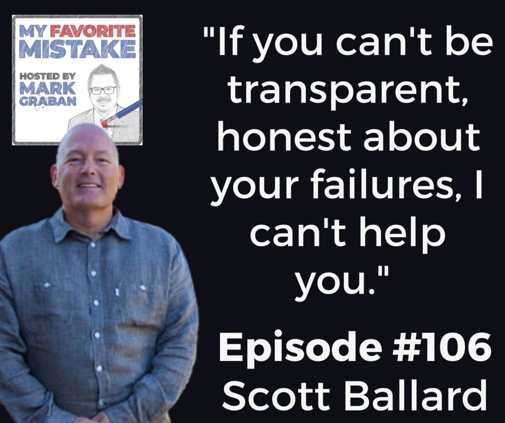 """""""If you can't be transparent, honest about your failures, I can't help you."""""""